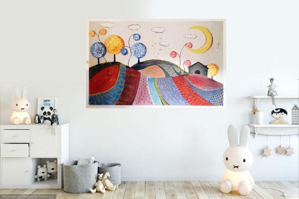 dipinto su muro a casa